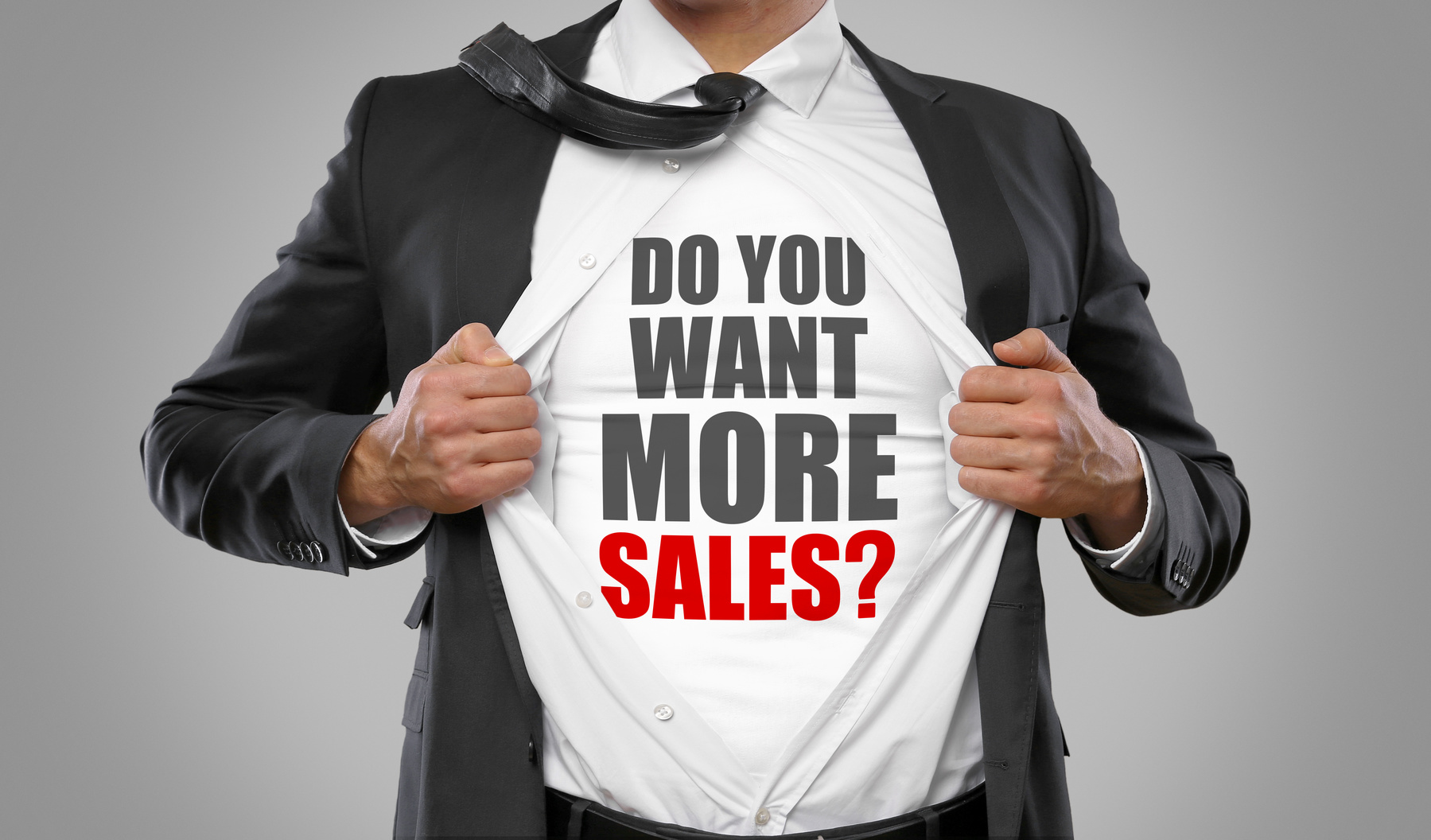 Do you want more sales? / man open shirt